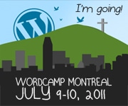 I Will be at WordCamp Montreal 2011
